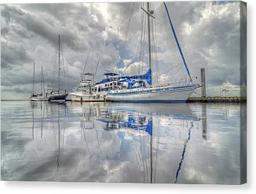 The Outer Pier Canvas Print by John Adams