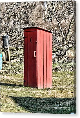 The Outhouse - 1 Canvas Print by Paul Ward