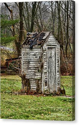 The Outhouse - 3 Canvas Print by Paul Ward