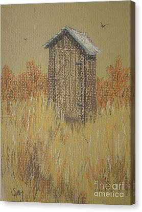 The Outhouse Canvas Print by Suzanne McKay