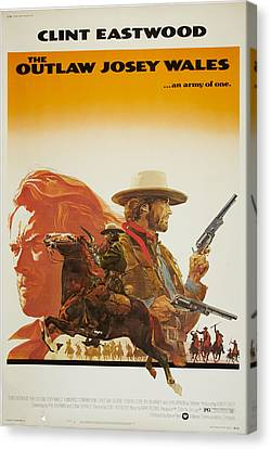 The Outlaw Josey Wales, Us Poster Canvas Print