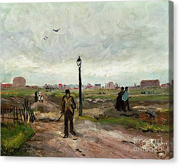 The Outskirts Of Paris Canvas Print by Vincent van Gogh