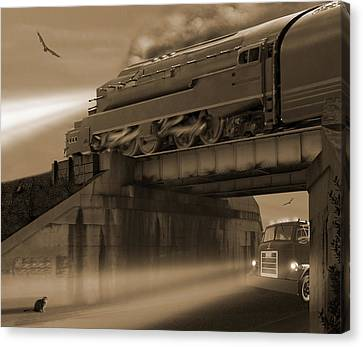 Buzzard Canvas Print - The Overpass 2 by Mike McGlothlen