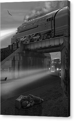 Buzzard Canvas Print - The Overpass by Mike McGlothlen