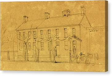 Lincoln Drawings Canvas Print - The Owens House by Quint Lox