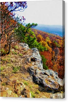 The Ozarks In Autumn Canvas Print