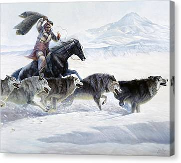 The Pack Canvas Print by Gregory Perillo