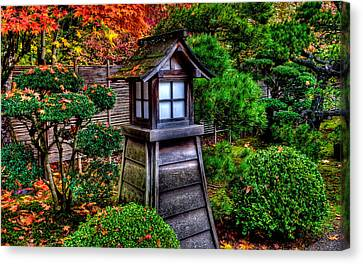 Canvas Print featuring the photograph The Pagoda At The Japanese Gardens by Thom Zehrfeld