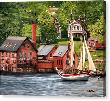 The Paint Factory And The Ardelle Canvas Print by Eileen Patten Oliver