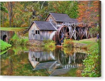 The Painted Mill Canvas Print