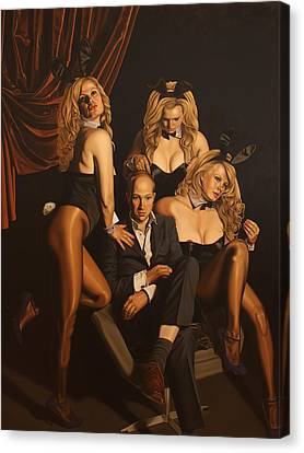 Playboy Bunny Canvas Print - The Painter And His Graces by Sierk Van Meeuwen