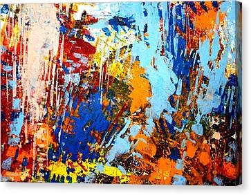 The Painting Has A Life Of Its Own. I Try To Let It Come Through. Jackson Pollock   Canvas Print by John  Nolan