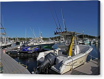 Sesuit Harbor Canvas Print - The Pala In Sesuit Harbor On Cape Cod by Juergen Roth