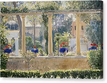 The Palace Garden Canvas Print by Lucy Willis
