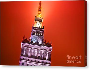 The Palace Of Culture And Science Warsaw Poland  Canvas Print by Michal Bednarek