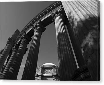 Canvas Print featuring the photograph The Palace Of Fine Arts In San Francisco by Yue Wang