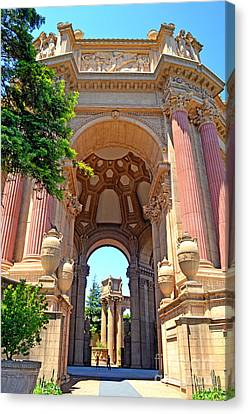 The Palace Of Fine Arts In The Marina District Of San Francisco II Canvas Print by Jim Fitzpatrick