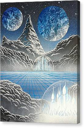 Tron Canvas Print - The Palace Of Flynn by Drew Goehring