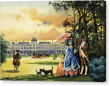 Tuileries Canvas Print - The Palace Of The Tuileries by Andrew Howat