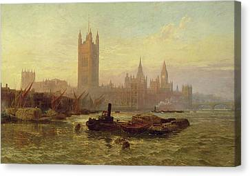 The Palace Of Westminster, 1892  Canvas Print by George Vicat Cole