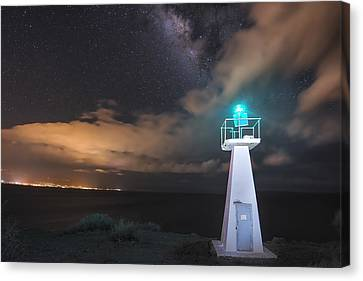 The Pali Lighthouse Canvas Print by Hawaii  Fine Art Photography