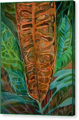 The Palm Leaf Canvas Print by Mindy Newman