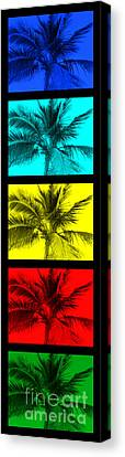 The Palm Totem Canvas Print by Timothy Curtin