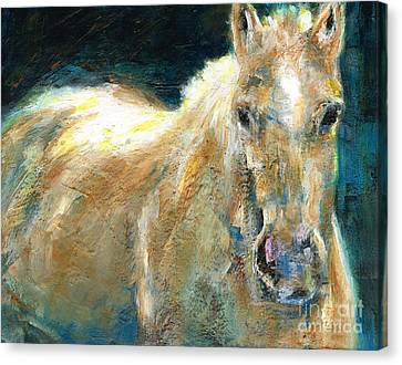 Abstract Equine Canvas Print - The Palomino by Frances Marino