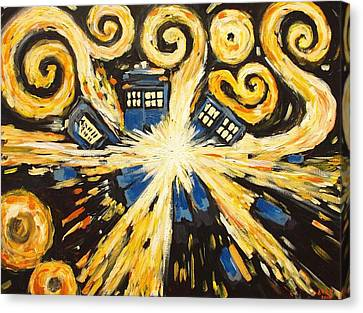 Weeping Canvas Print - The Pandorica Opens by Sheep McTavish