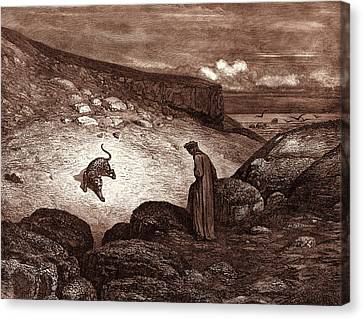 The Panther In The Desert, By Gustave Dore Canvas Print by Litz Collection