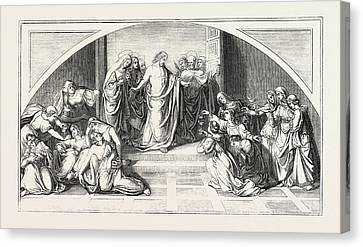 The Parable Of The Wise And Foolish Virgins Canvas Print