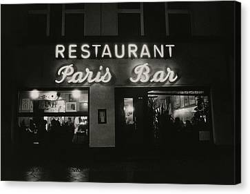 Berlin Canvas Print - The Paris Bar by Dominique Nabokov