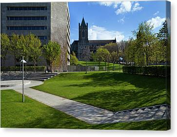 Dublin Building Colors Canvas Print - The Park Behind Dublin Corporation by Panoramic Images