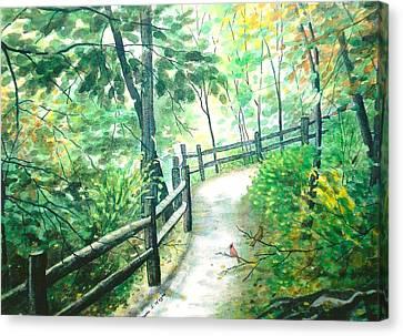 The Park Trail - Mill Creek Park Canvas Print