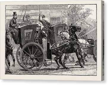 Occur Canvas Print - The Parrot And The Cabbies by English School