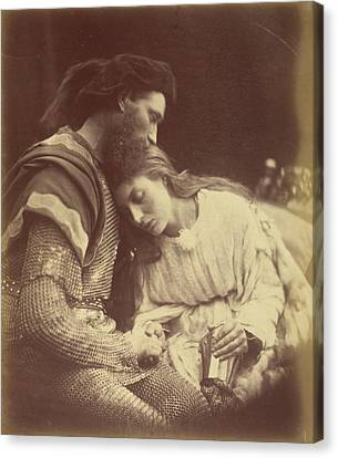 The Parting Of Sir Lancelot And Queen Guinevere Julia Canvas Print by Litz Collection