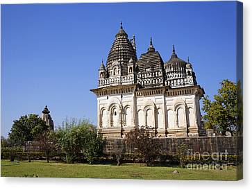 Parvati Canvas Print - The Parvati Temple At Khajuraho In India by Robert Preston