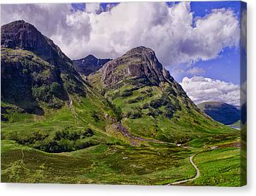 The Pass Of Glencoe Canvas Print by Jacqi Elmslie