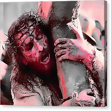 The Passion Of The Christ 'for Our Sins' Canvas Print