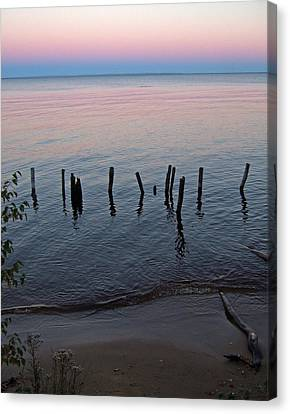 The Pastel Palette Of Whitefish Bay Canvas Print
