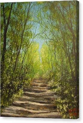 Canvas Print featuring the painting The Path by Dan Wagner