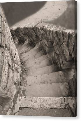 Stone Path Canvas Print - Castle Stairs by Don Spenner