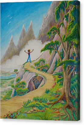 Canvas Print featuring the painting The Path by Matt Konar