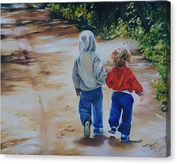 The Path Canvas Print by Nadine Dennis
