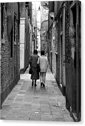 The Path Of Friends Canvas Print by Rae Tucker