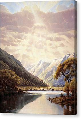 Religious Art Canvas Print - The Path Of Life by Graham Braddock