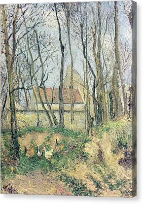 The Path Of The Wretched Canvas Print by Camille Pissarro