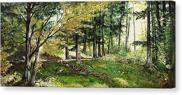 Canvas Print featuring the painting The Path by Sorin Apostolescu
