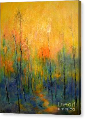 The Path To Forever Canvas Print by Alison Caltrider