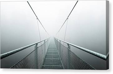 Diagonal Canvas Print - The Path To Infinity by Max Zimmermann
